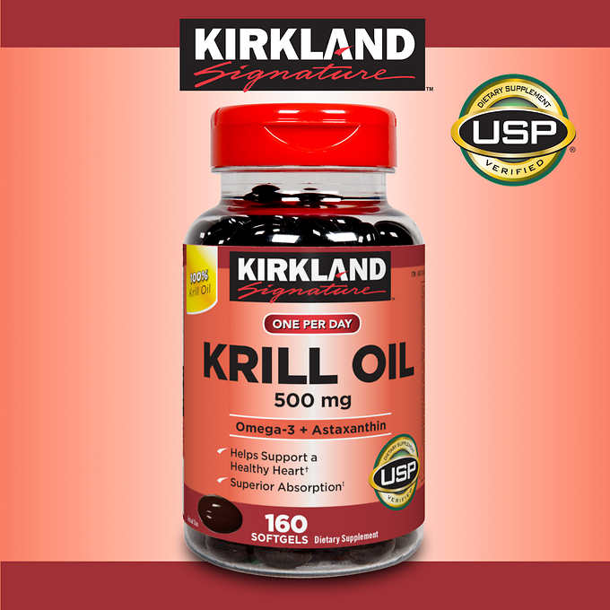 Kirkland signature krill oil 500 mg 160 softgels sale for What is the best fish oil to take